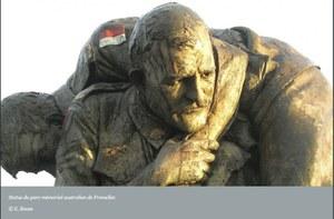 Statue du parc mémorialaustralien de Fromelles.